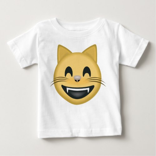 Grinning Cat Face With Smiling Eyes Emoji Baby T-Shirt