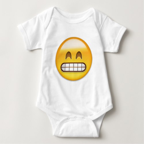 Grinning Face With Smiling Eyes Emoji Baby Bodysuit