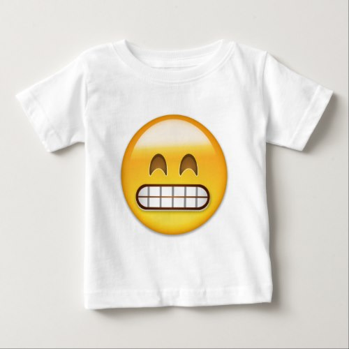 Grinning Face With Smiling Eyes Emoji Baby T-Shirt