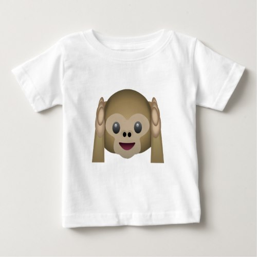 Hear No Evil Monkey Emoji Baby T-Shirt