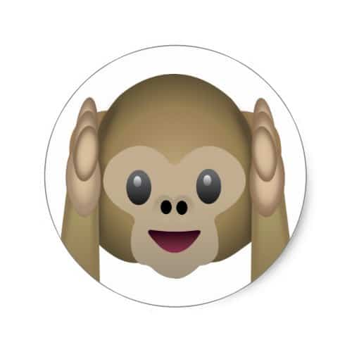 Hear No Evil Monkey Emoji Classic Round Sticker