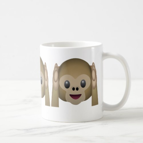 Hear No Evil Monkey Emoji Coffee Mug