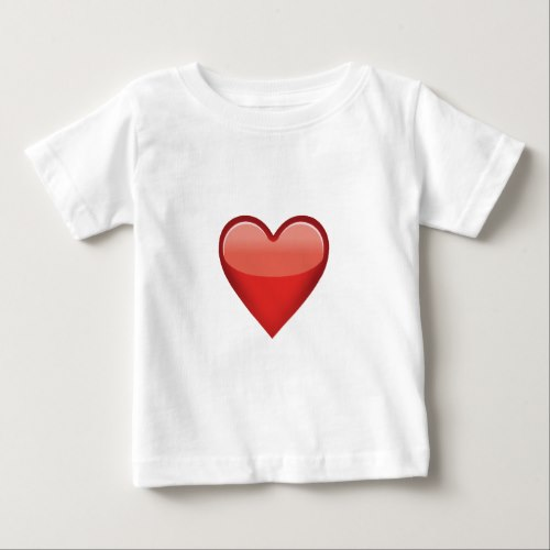 Heavy Black Heart Emoji Baby T-Shirt