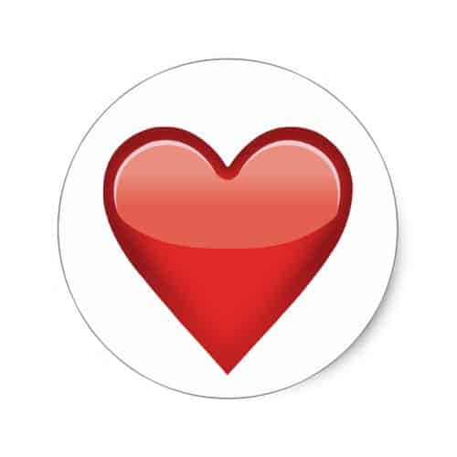 Heavy Black Heart Emoji Classic Round Sticker