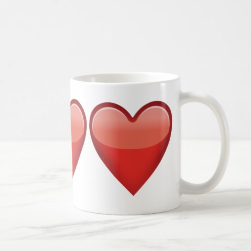 Heavy Black Heart Emoji Coffee Mug