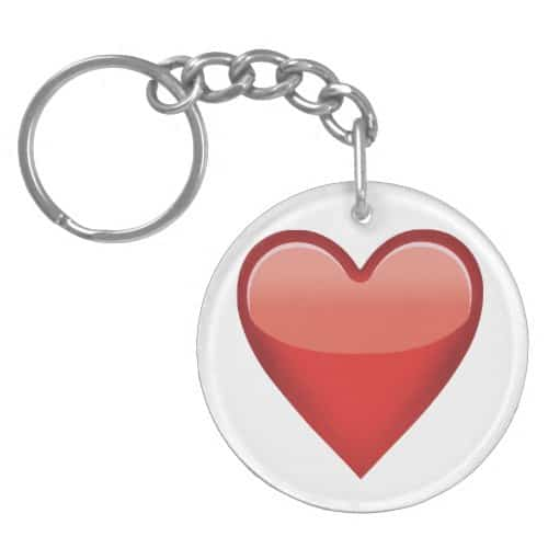 Heavy Black Heart Emoji Keychain