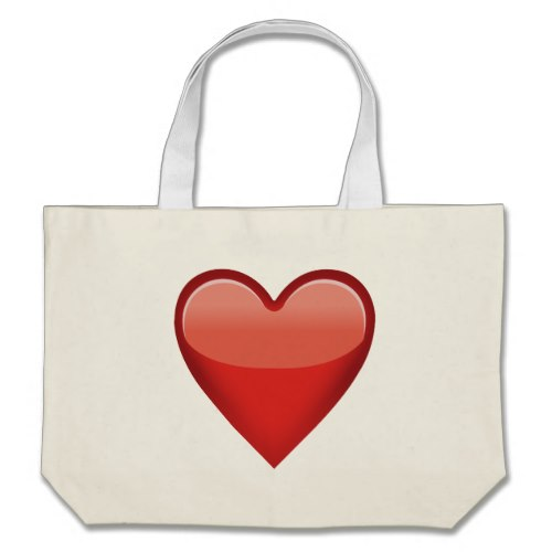 Heavy Black Heart Emoji Large Tote Bag