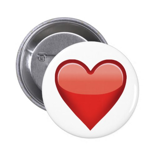 Heavy Black Heart Emoji Pinback Button