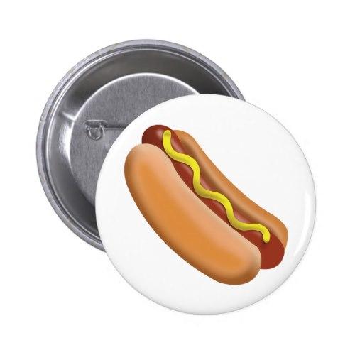 Hot Dog Emoji Pinback Button