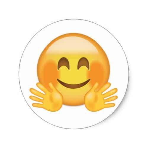 Hugging Face Emoji Classic Round Sticker