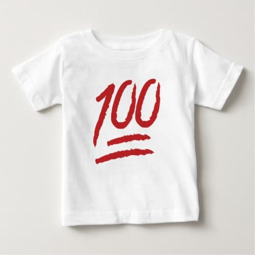 Hundred Points Symbol Emoji Baby T-Shirt