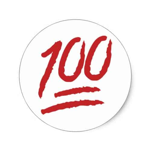Hundred Points Symbol Emoji Classic Round Sticker