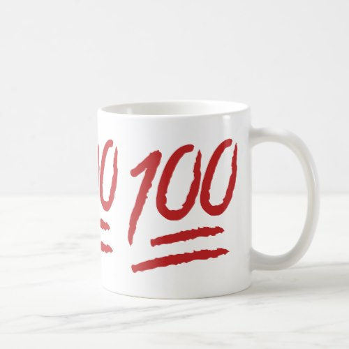 Hundred Points Symbol Emoji Coffee Mug