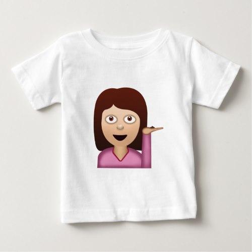 Information Desk Person Emoji Baby T-Shirt