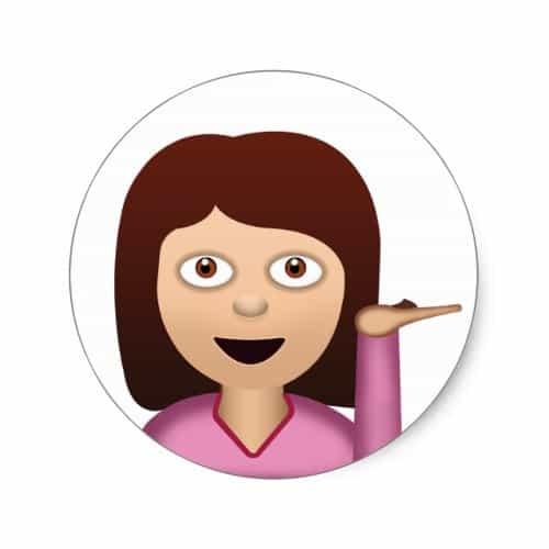 Information Desk Person Emoji Clic Round Sticker