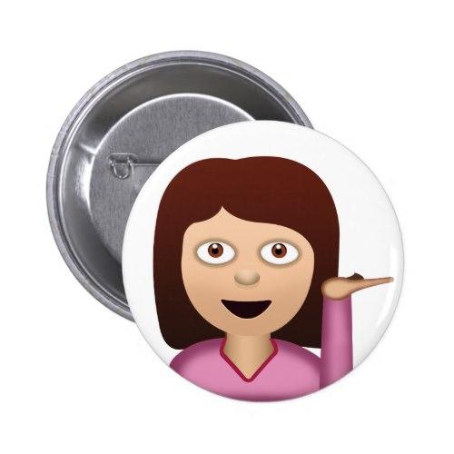 Phenomenal Information Desk Person Emoji Pinback Button Download Free Architecture Designs Scobabritishbridgeorg