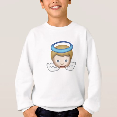 Baby Angel Emoji Sweatshirt for Kids