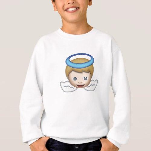 Baby Angel Emoji Sweatshirt for Kids