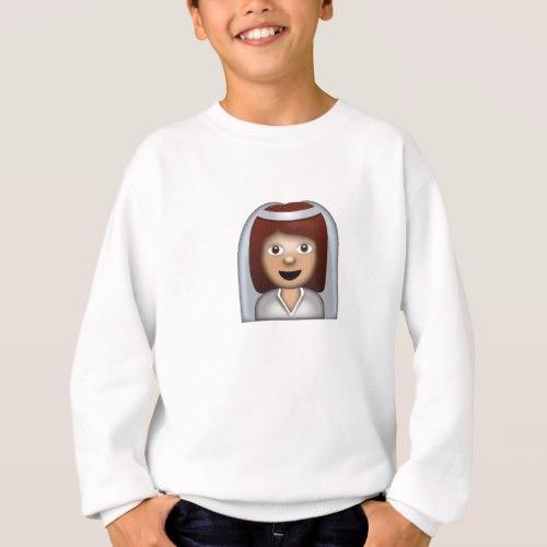 Bride With Veil Emoji Sweatshirt for Kids