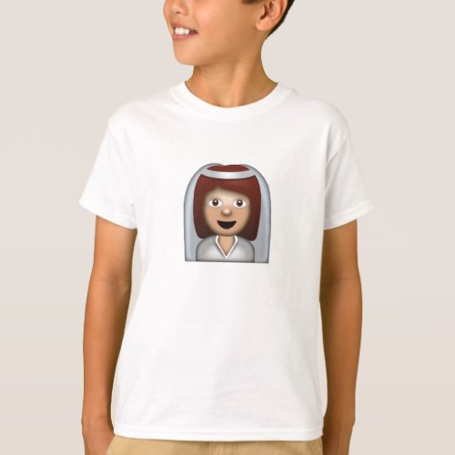 Bride With Veil Emoji T-Shirt for Kids