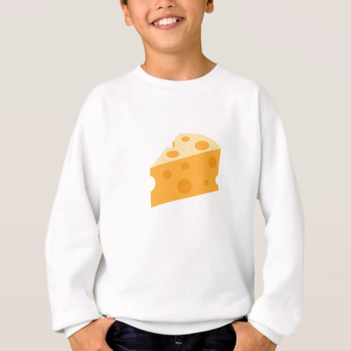 Cheese Wedge Emoji Sweatshirt for Kids