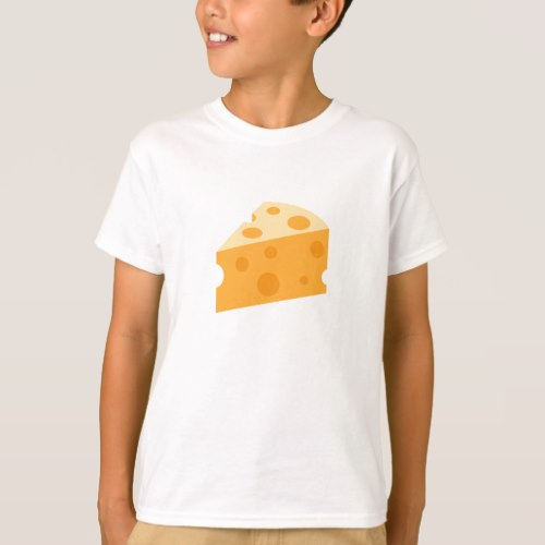 Cheese Wedge Emoji T-Shirt for Kids