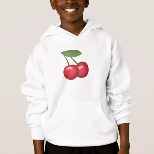 Cherries Emoji Hoodie for Kids