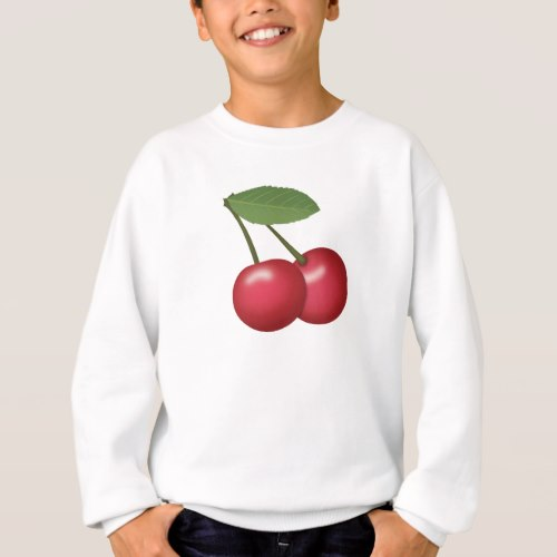 Cherries Emoji Sweatshirt for Kids