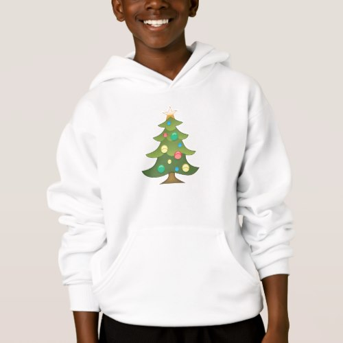 Christmas Tree Emoji Hoodie for Kids