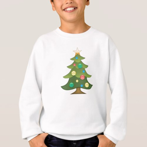 Christmas Tree Emoji Sweatshirt for Kids