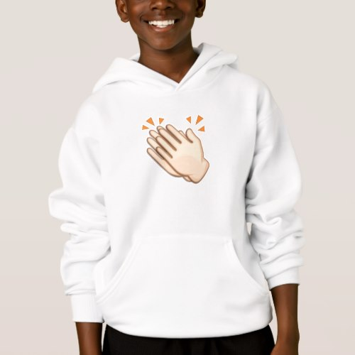 Clapping Hands Sign Emoji Hoodie for Kids