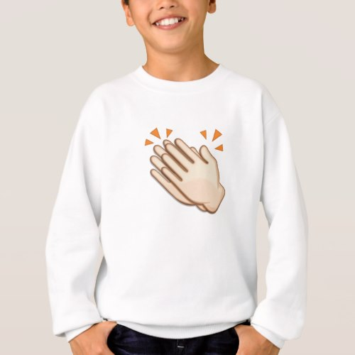 Clapping Hands Sign Emoji Sweatshirt for Kids