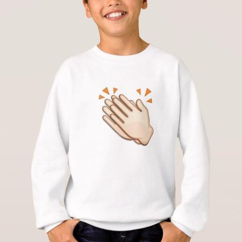 Clapping Hands Sign Emoji Sweatshirt for Kids