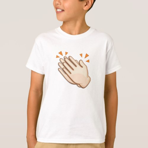 Clapping Hands Sign Emoji T-Shirt for Kids