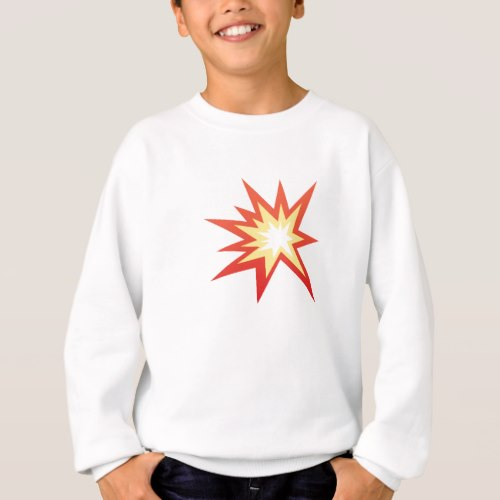 Collision Symbol Emoji Sweatshirt for Kids