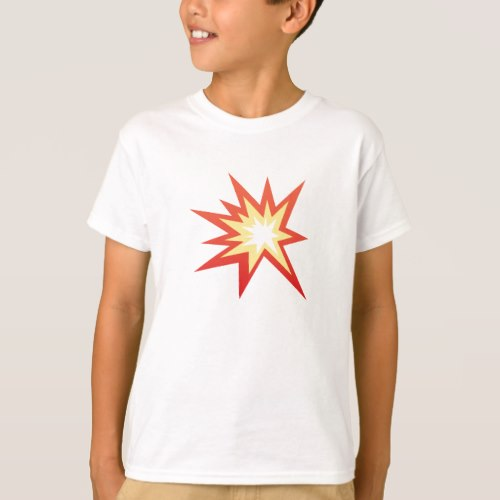 Collision Symbol Emoji T-Shirt for Kids