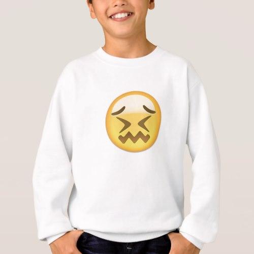 Confounded Face Emoji Sweatshirt for Kids
