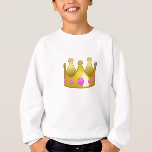 Crown Emoji Sweatshirt for Kids