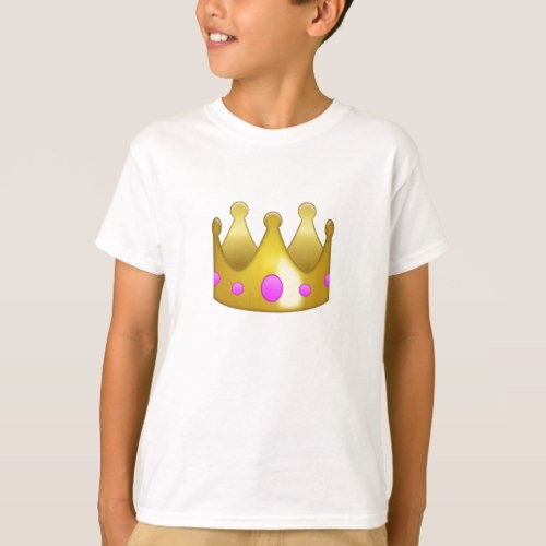 Crown Emoji T-Shirt for Kids