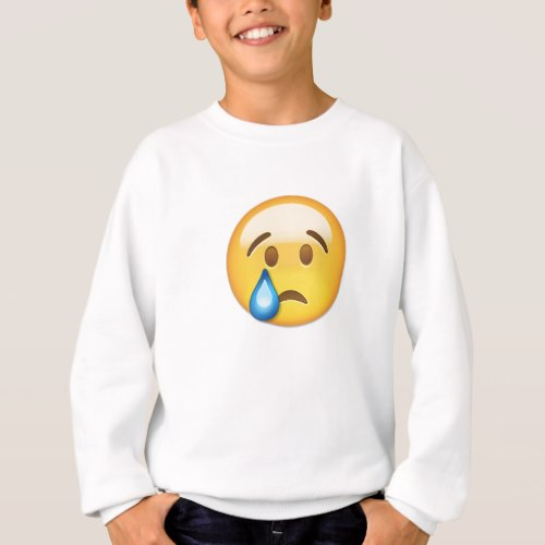 Crying Face Emoji Sweatshirt for Kids