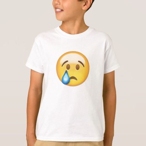 Crying Face Emoji T-Shirt for Kids
