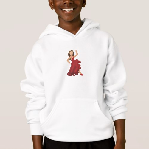 Dancer Emoji Hoodie for Kids