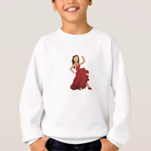 Dancer Emoji Sweatshirt for Kids