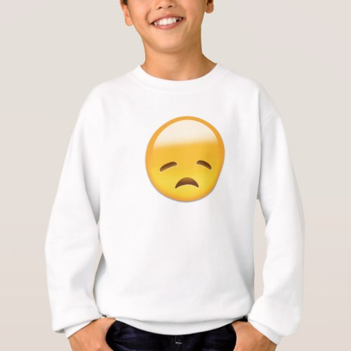 Disappointed Face Emoji Sweatshirt for Kids