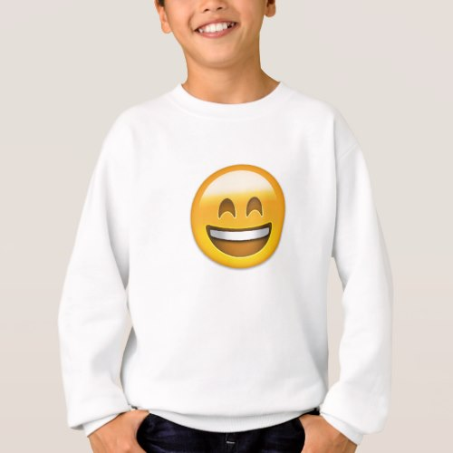 Emoji Smiling Face Open Mouth And Smiling Eyes Sweatshirt for Kids