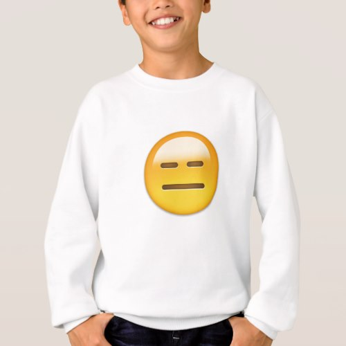 Expressionless Face Emoji Sweatshirt for Kids