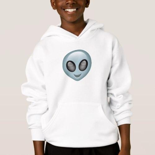 Extraterrestrial Alien Emoji Hoodie for Kids