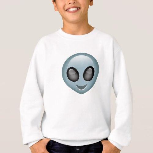 Extraterrestrial Alien Emoji Sweatshirt for Kids