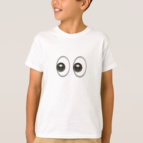 Eyes Emoji T-Shirt for Kids