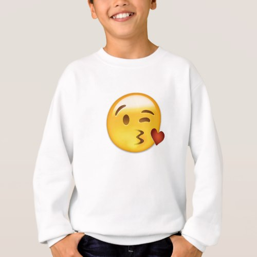 Face Throwing A Kiss Emoji Sweatshirt for Kids